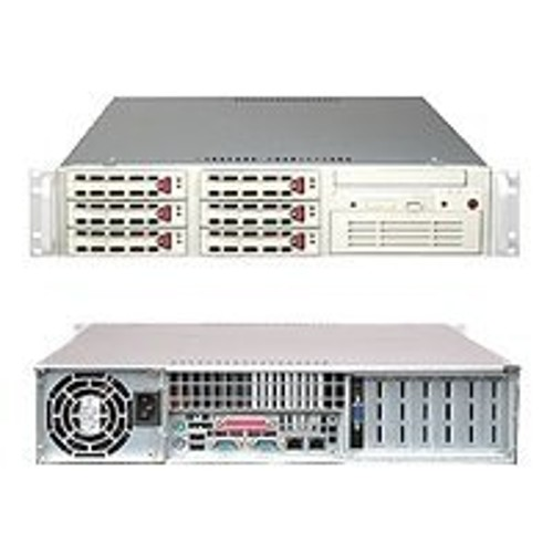 Super Micro 2u Rackmount Xeon-dp Barebone with 550w power supply - Beige