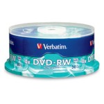 Verbatim DataLifePlus DVD-RW 4.7GB 2x, 30-Pack Spindle 95179