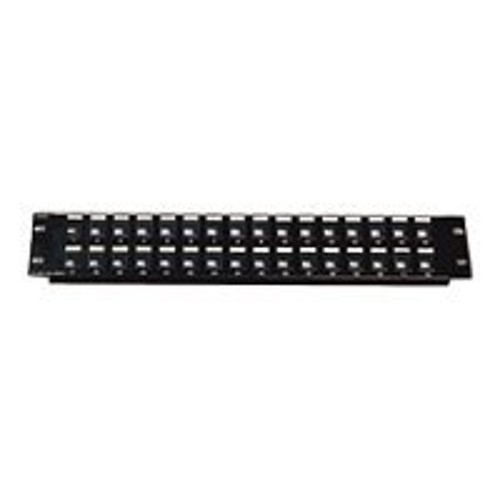 Cables To Go Premise Plus Blank Keystone/Multimedia Patch Panel - Patch panel - black - 1U - 16 ports