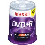 Maxell 100 x DVD+R 4.7 GB 16x - spindle - storage media 639016