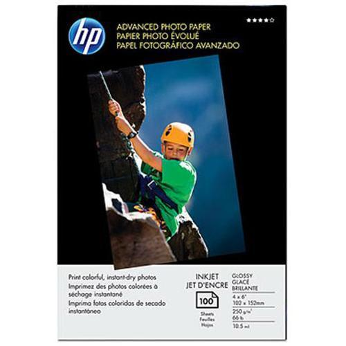 HP Advanced Photo Paper, glossy - 4 x 6 in, borderless (100 sheets)