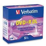 Verbatim 5Pack DVD+R DL 8.5GB 8X-Branded with Jewel case 95311