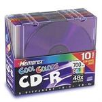 Memorex Cool Colors CD-R x 10 - 700 MB - storage media 32024601CP6