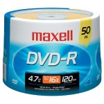 Maxell 4.7GB 16x DVD-R Media - 50-Pack Spindle 638011