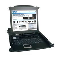 TrippLite NetDirector 8-Port 1U Rack-Mount Console KVM Switch with 17-in. LCD B020-008-17