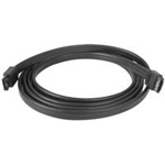 6 ft Shielded External eSATA Cable M/M - eSATA cable - Serial ATA 150 - eSATA (M) to eSATA (M) - 6 ft - black - for P/N: PEXSAT31E1, S2510PESAT, PEXESAT32, ECESAT32, SAT3540ER, USB2ESATA, SAT3540ERGB