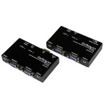 VGA Video Extender over Cat 5 with Audio - Up to 500ft (150m) - VGA over Cat5 Extender - 1 Local and 1 Remote