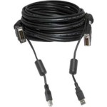 Video / USB cable - USB Type B, DVI-I (M) to USB, DVI-I (M) - 6 ft