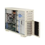 "Supermicro SuperServer 7045B-3 - Server - tower - 4U - 2-way - RAM 0 MB - SATA/SAS - hot-swap 3.5"" - no HDD - ATI ES1000 - GigE - monitor: none"