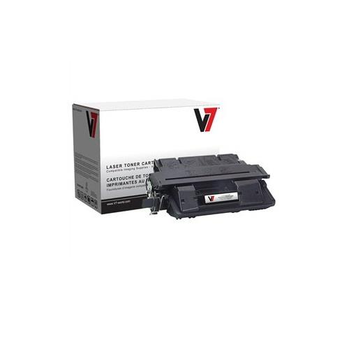 V7 Black Toner Cartridge for HP LaserJet 4100 Series