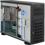 "Supermicro SuperServer 7045B-TR+ - Server - tower - 4U - 2-way - RAM 0 MB - SATA - hot-swap 3.5"" - no HDD - ATI ES1000 - GigE - monitor: none"