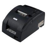 TM U220D - Receipt printer - two-color (monochrome) - dot-matrix - Roll (3 in) - 17.8 cpi - 9 pin - up to 6 lines/sec - capacity: 1 roll - serial - dark gray