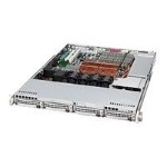 Supermicro SC815 TQ-700B - Rack-mountable - 1U - extended ATX - SATA/SAS - hot-swap 700 Watt - black