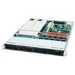 "Supermicro SuperServer 6015P-TR - Server - rack-mountable - 1U - 2-way - RAM 0 MB - SATA - hot-swap 3.5"" - no HDD - DVD - ATI ES1000 - GigE - monitor: none"