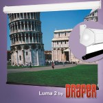 Luma 2 - Projection screen - ceiling mountable, wall mountable - 150 in (150 in) - 4:3 - Matte White