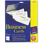Laser Business Cards - Ivory