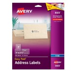 Avery Dennison Labels - transparent - A4 (8.25 in x 11.7 in) 25 pcs. 30 ) 8660