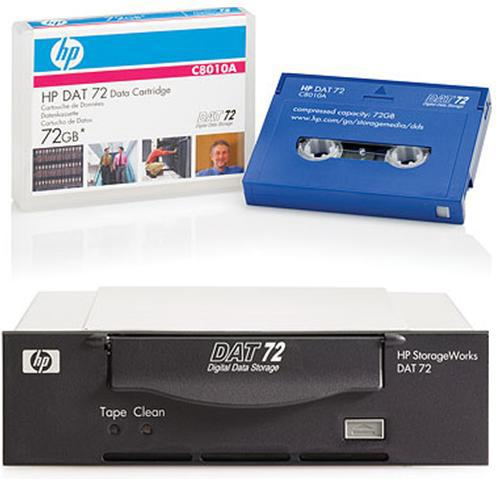 HP Smart Buy StorageWorks DAT72 SCSI Internal Tape Drive Bundled with 4x HP DAT72 72GB 170m Data Cartridges