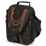 Mini Messenger - Black / Orange