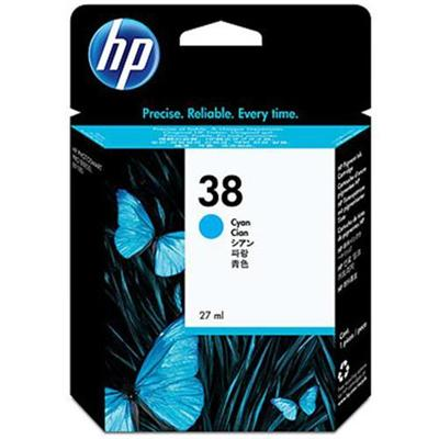 HP 38 Cyan Pigment Ink Cartridge (C9415A)
