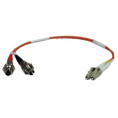 TrippLite Fiber Optic LC/ST M/F 62.5/125 Duplex Multimode Adapter Cable - 1 ft. (N457-001-62)