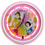 KNG America Princess Neon Wall Clock 028418