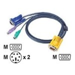 MasterView 2L5202P - Keyboard / video / mouse (KVM) cable - 6 pin PS/2, HD-15 (M) to 15 pin SPHD (M) - 6 ft (pack of 8 )