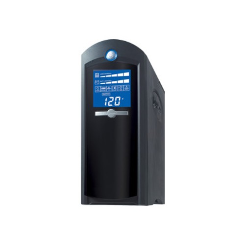 Cyberpower CP1500AVRLCD UPS - 1500VA/900W AVR 8-Outlet RJ11/RJ45/Coax Tower LCD Display USB