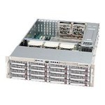 Super Micro Supermicro SC836 E1-R800B - Rack-mountable - 3U - extended ATX - SATA/SAS - hot-swap 800 Watt - black - USB/serial CSE-836E1-R800B