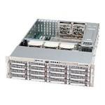 Supermicro SC836 E1-R800B - Rack-mountable - 3U - extended ATX - SATA/SAS - hot-swap 800 Watt - black - USB/serial