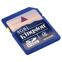  Kingston Digital 4GB Secure Digital High Capacity Memory Card - Class 4