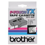 "Brother 3/4"" Black on White Standard Laminated Tape - 50ft TX-2411"