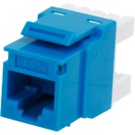 Cables To Go Cat5E RJ45 Keystone Jack - Blue 03796