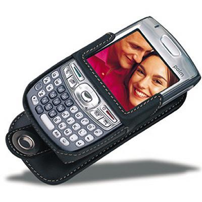 Covertec Luxury leather case for Treo 680, Treo 750 Series - (Black) (SX158-01)
