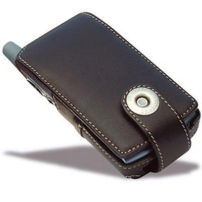 CovertecLuxury leather case for Treo 650, Treo 700 Series - (Black)(SX94-01)