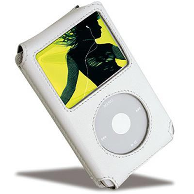 Covertec Luxury Leather Pouch Case for iPod Video (White) (SX130-05)