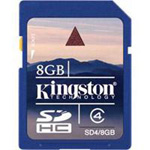 Kingston Digital 8GB SDHC Class 4 Flash Card SD4/8GB