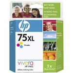 75XL - High Yield - color (cyan, magenta, yellow) - original - ink cartridge - for Photosmart C4210, C4345, C4383, C4435, C4440, C4450, C4480, C4580, C4599, C5550, C5580