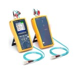 Fluke Networks Kit of Duplex MM 62.5µm and 50µm Test Cords with LC and ST Adapters NFB1/2-LC&ST