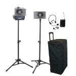 AmpliVox Sound Systems 50 Watt Wireless Half-Mile Hailer Kit SW630
