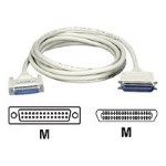 Black Box Printer cable - 36 pin Centronics (M) to DB-25 (M) - 6 ft - molded, thumbscrews, 90 degree connector BC01601