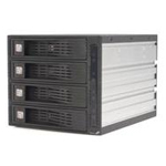 "4 Drive 3.5in Trayless Hot Swap SATA Mobile Rack Backplane - Storage drive cage - 3.5"" - black - for P/N: PEXSAT34RH"