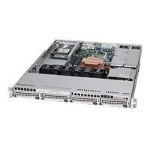 Supermicro SC815 TQ-R450UV - Rack-mountable - 1U - extended ATX - SATA/SAS - hot-swap 450 Watt - silver