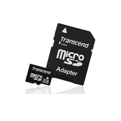 Transcend 2GB Micro SD (T Flash) Duo Adapters (TS2GUSD-2)