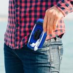 Sport Grip Backwinder for iPhone - Blue