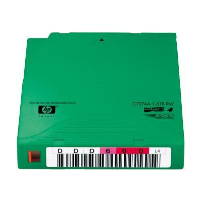HP LTO-4 Ultrium 1.6TB RW Custom Label Cartridge - 20 Pack (C7974AL)