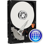 "WD WD Blue WD2500AAJB - Hard drive - 250 GB - internal - 3.5"" - ATA-100 - 7200 rpm - buffer: 8 MB - RoHS WD2500AAJB"