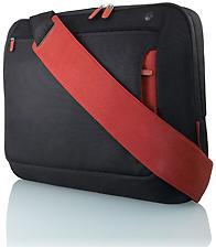  Belkin Messenger Bag F8N050 BR for Notebooks (15.4) Jet Black/Cabernet Red   $17