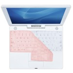 Clear / Transparent Keyboard Cover for iBook - Pink