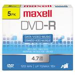 Maxell 5 x DVD-R - 4.7 GB 16x - jewel case 638002